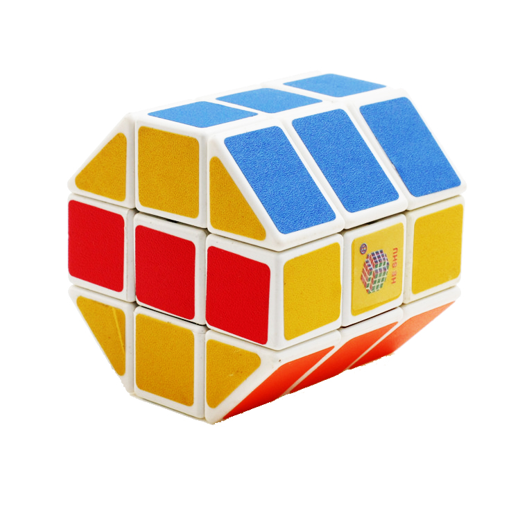 3x3x3 - Rubikova kostka - Pravidelný osmistěnný hranol - bílý podklad