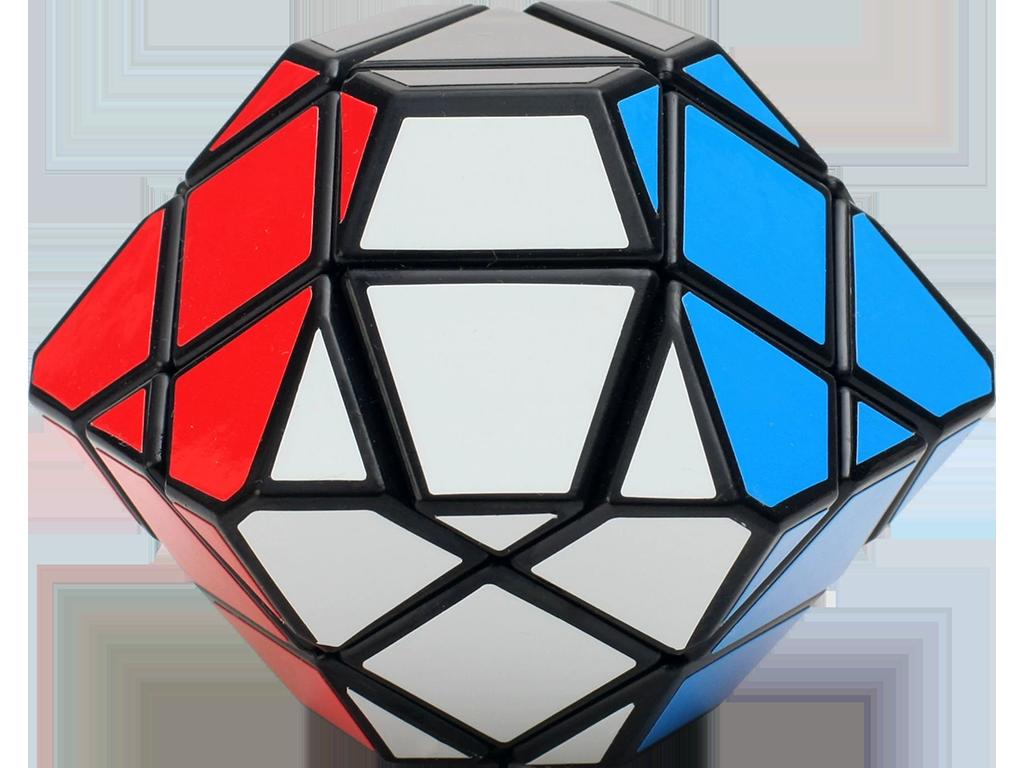 3x3x3 - Rubikova kostka - UFO - Diamant - černý podklad
