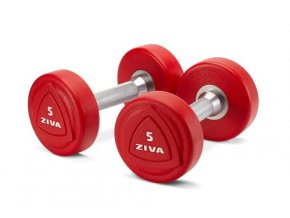 zvo 1 10kg solid steel urethane dumbbell set