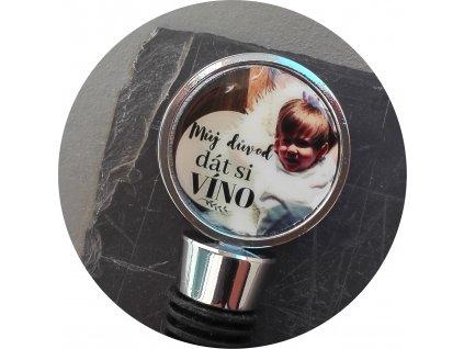 Zátka na lahev s fotkou