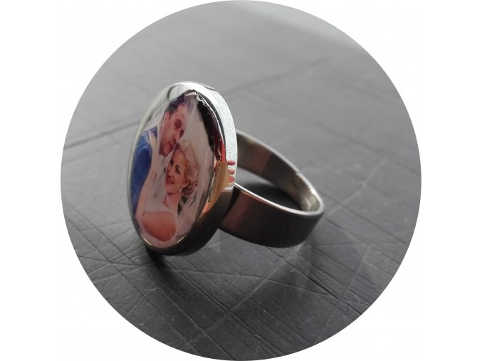 Prsten kulatý s fotkou