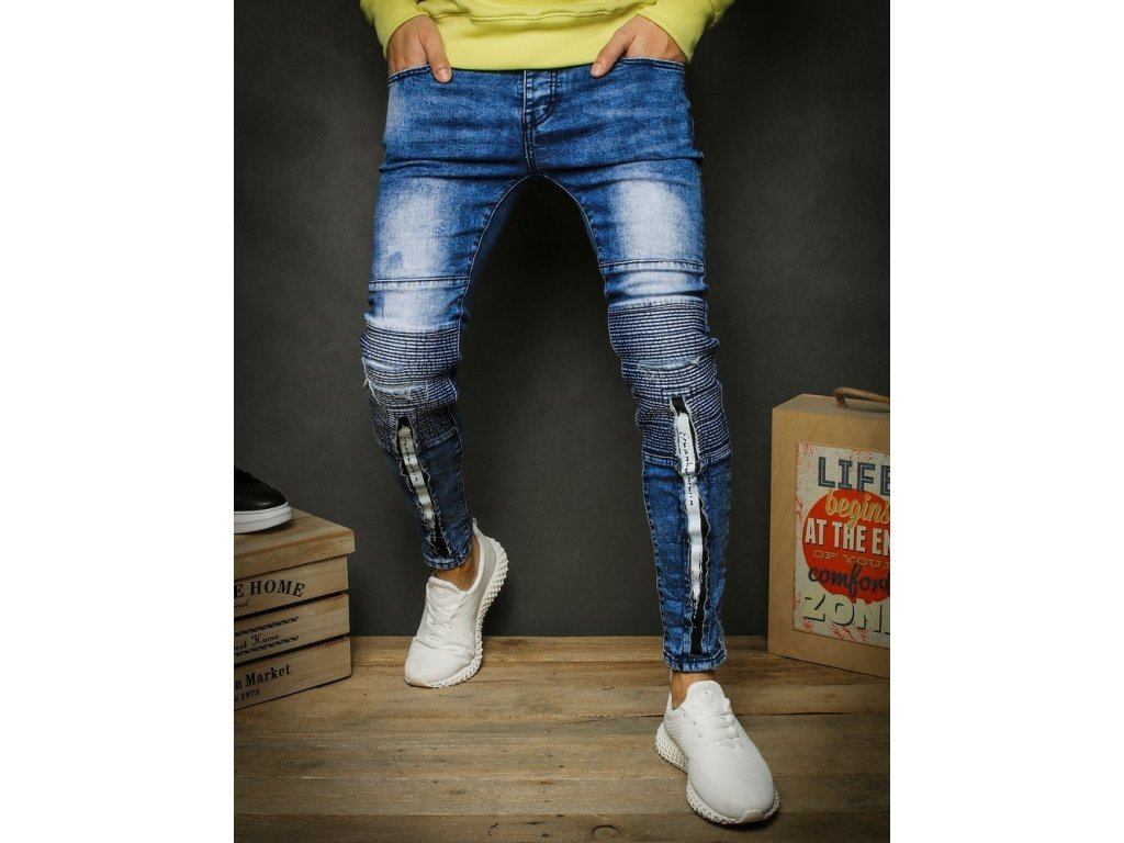 pol pl Spodnie meskie jeansowe niebieskie UX2337 26793 1