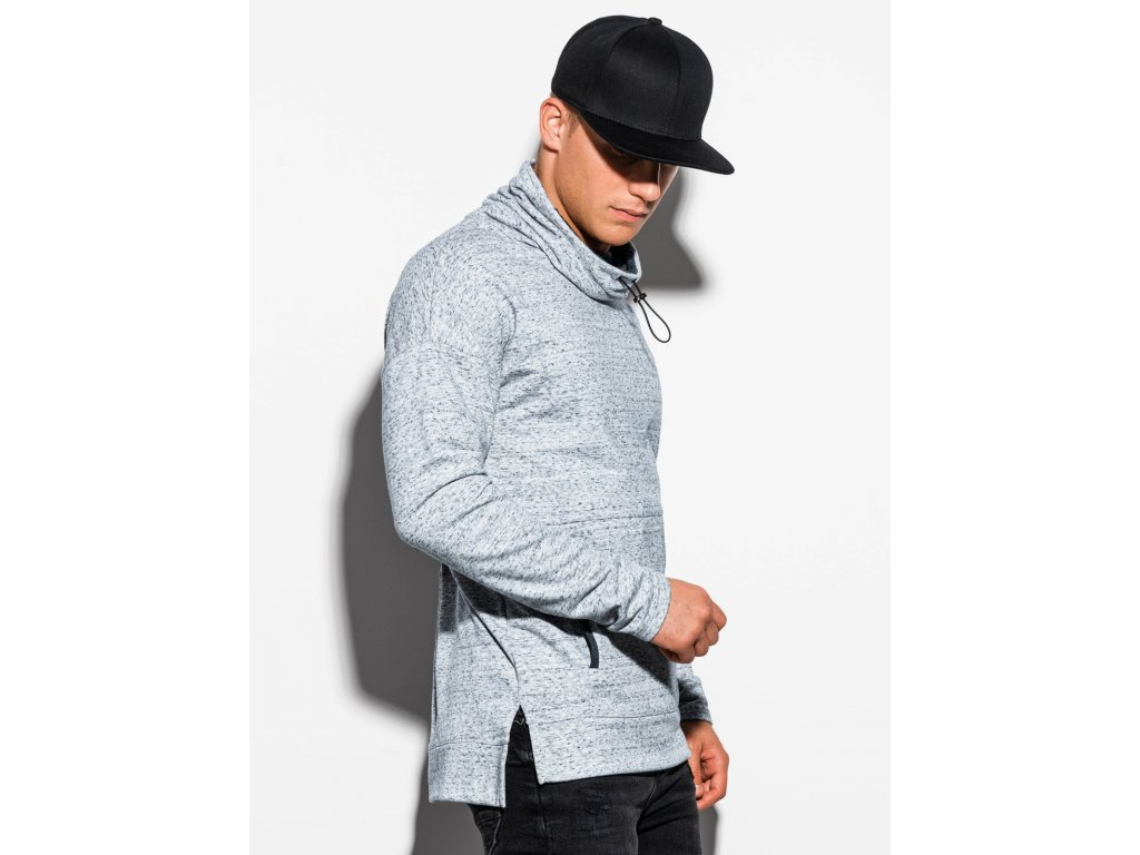 eng pl Mens sweatshirt with a stand up collar B1096 grey 15823 1