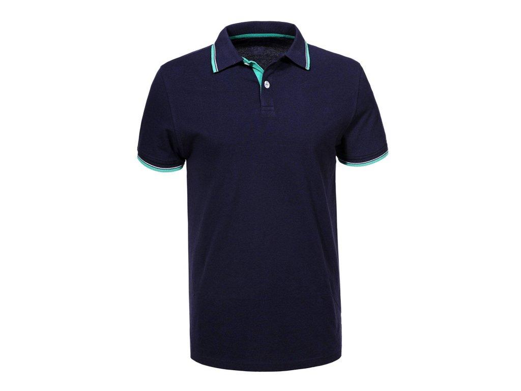 men s knitted short sleeve polo shirt