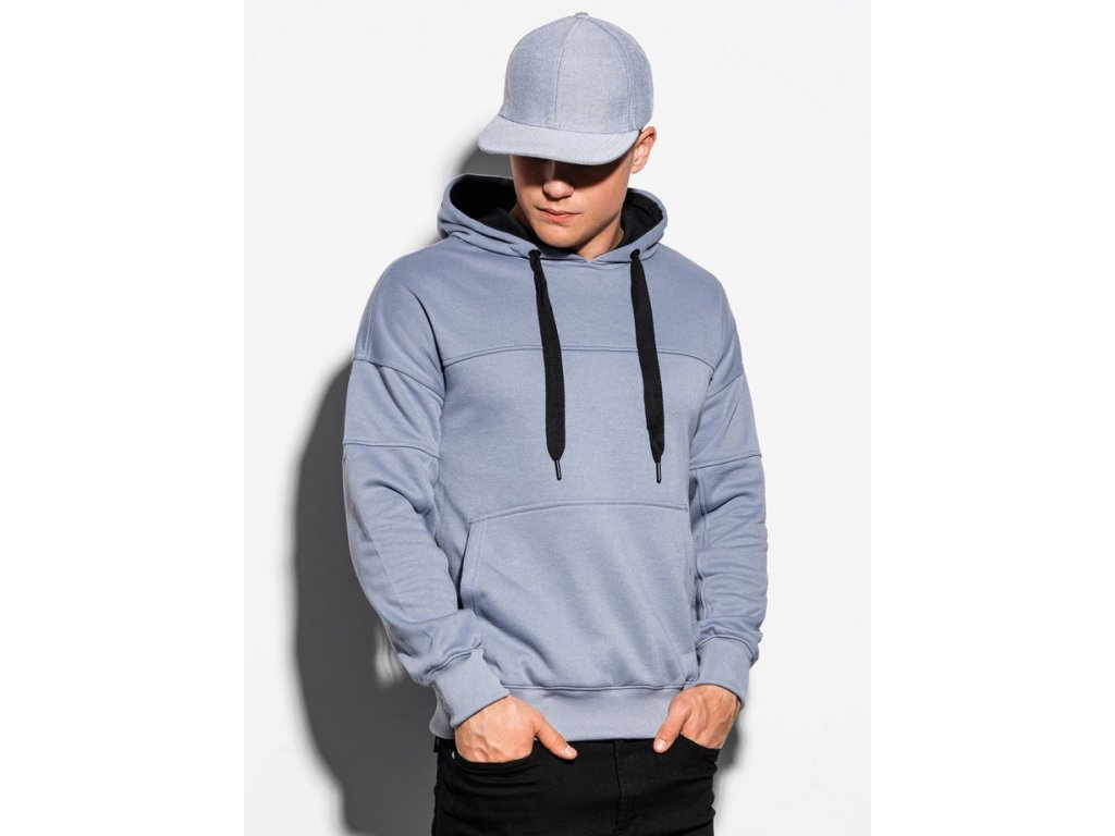 eng pm Mens hooded sweatshirt B1078 light blue 16361 4