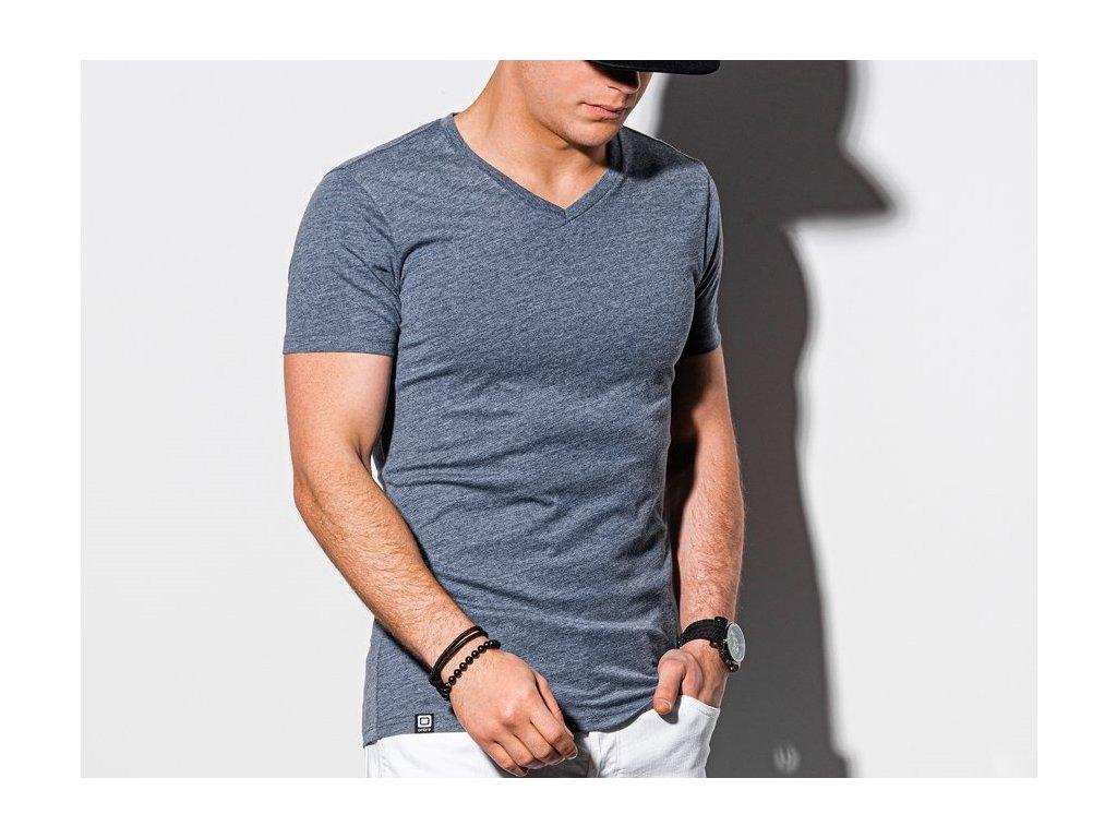 eng pl Mens plain t shirt S1369 blue melange 18251 1