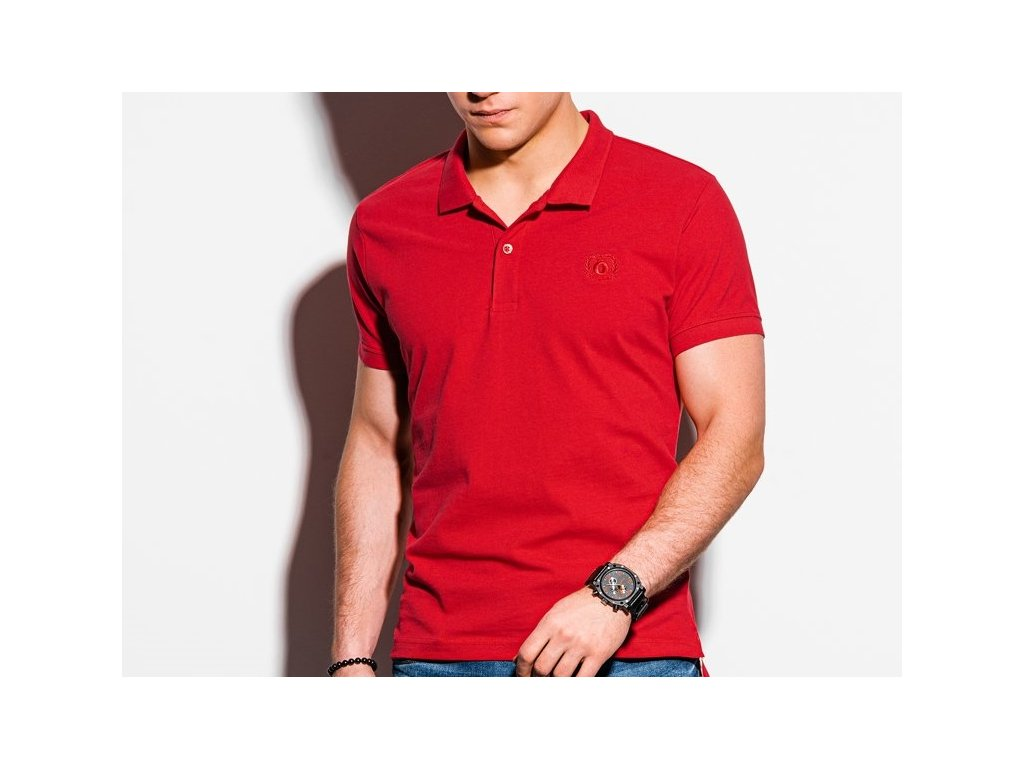 eng pl Mens plain polo shirt S1374 red 18321 3