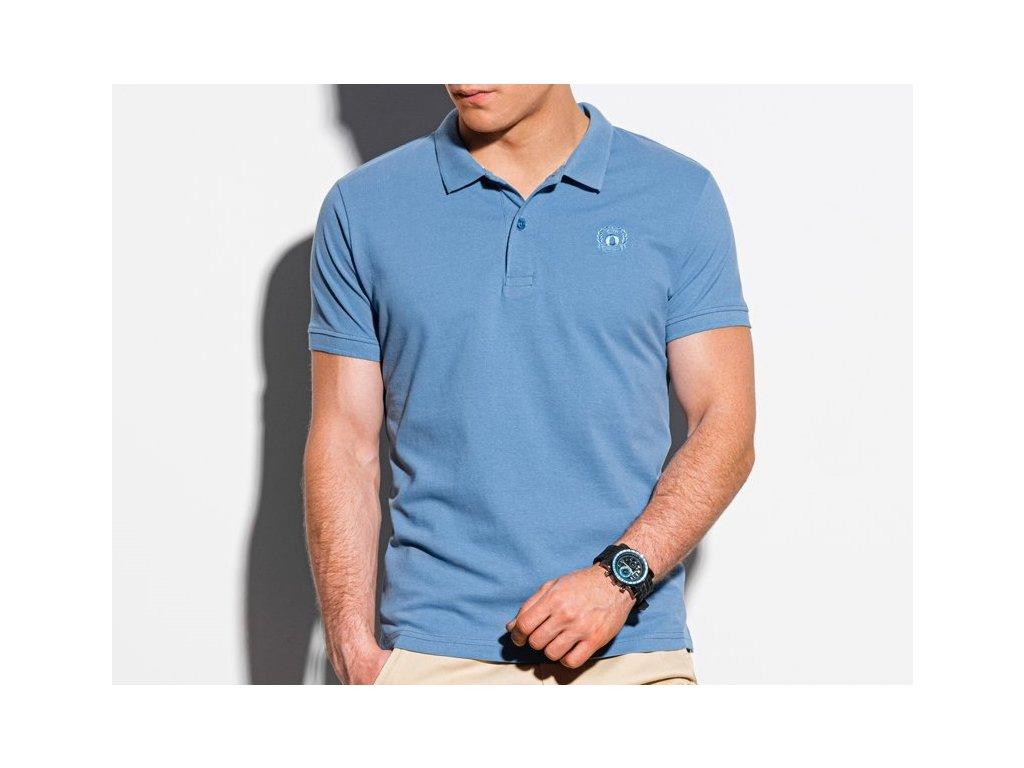 eng pl Mens plain polo shirt S1374 blue 18325 1