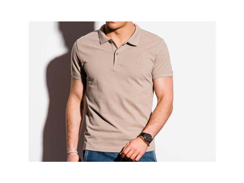 eng pl Mens plain polo shirt S1374 light brown 18328 3