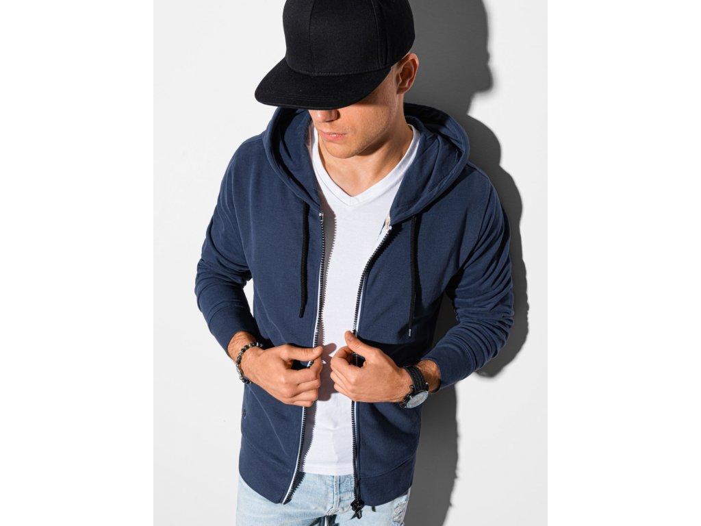 eng pl Mens zip up sweatshirt B1145 navy 19606 1 (1)