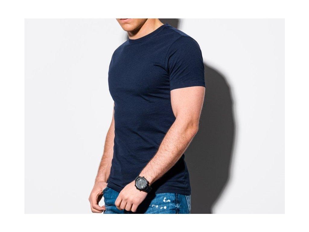 eng pl Mens plain t shirt S1370 navy 18536 3x