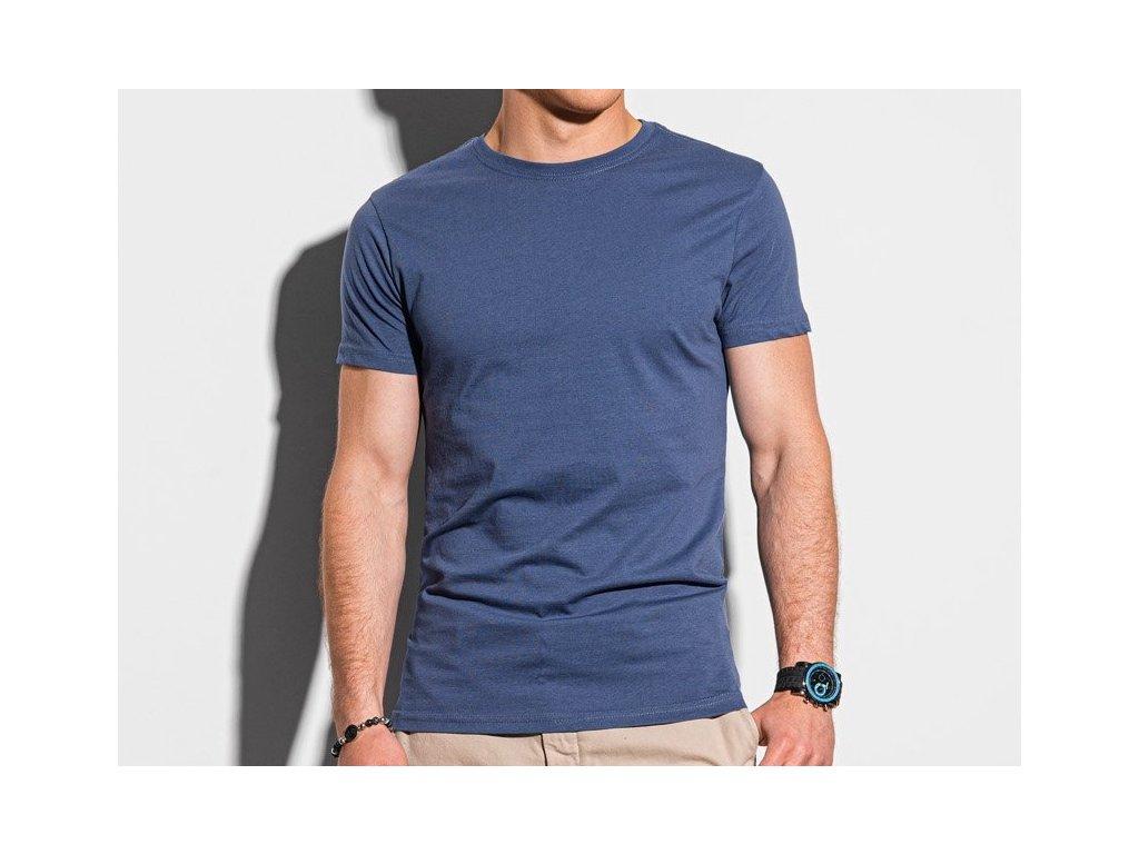 eng pl Mens plain t shirt S1370 dark blue 19630 3x