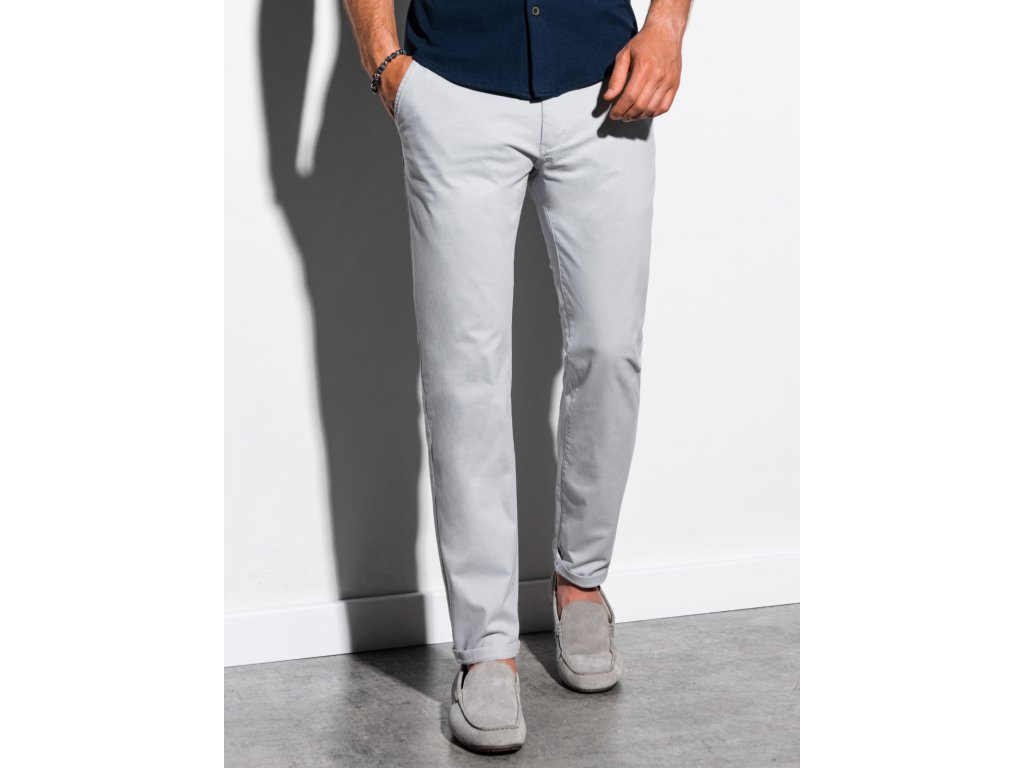 eng pl Mens pants chinos P894 light grey 15561 1