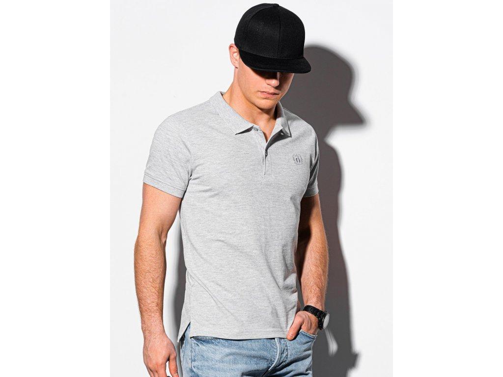 eng pl Mens plain polo shirt S1374 grey 18327 1