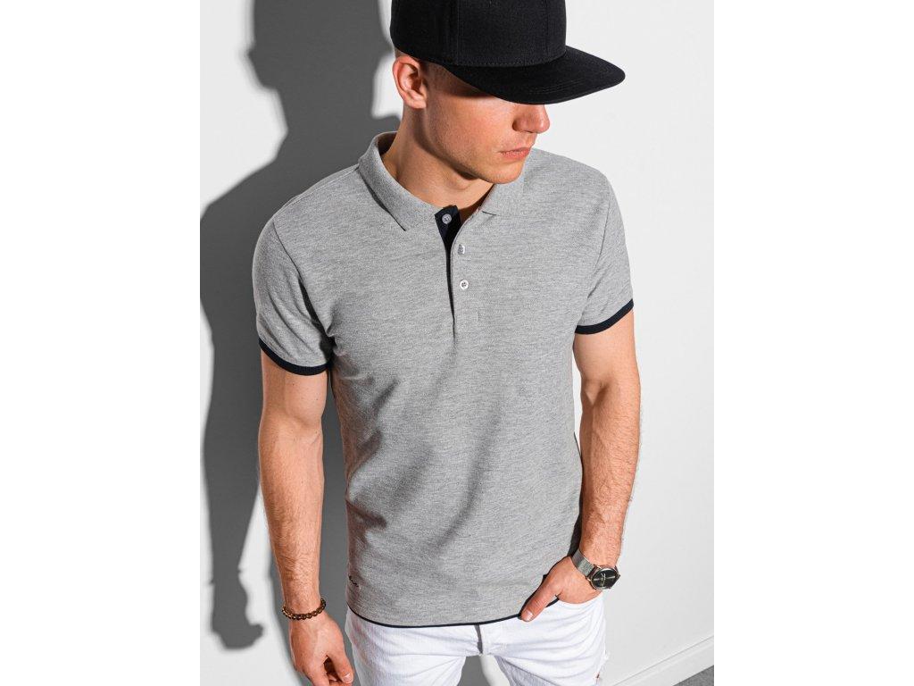 eng pl Mens plain polo shirt S1382 light grey 19194 1