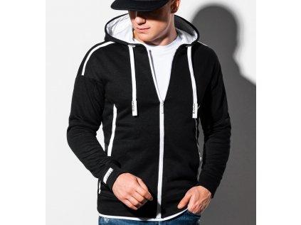 eng pl Mens zip up sweatshirt B1076 black 16397 7