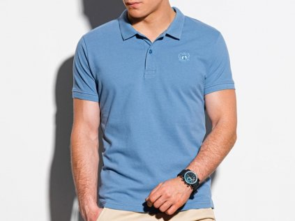eng pl Mens plain polo shirt S1374 blue 18325 1