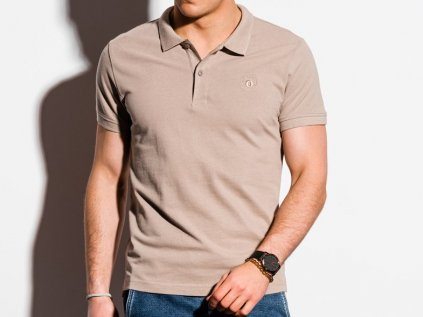 eng pl Mens plain polo shirt S1374 light brown 18328 3