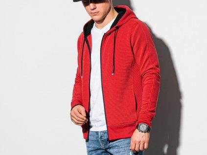 eng pl Mens zip up sweatshirt B1157 red 18897 2