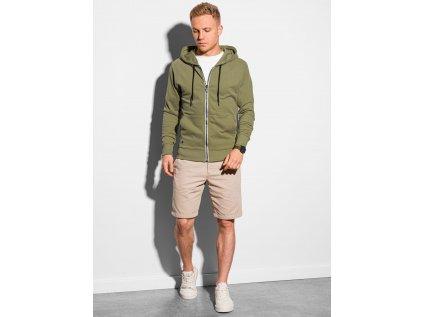 eng pl Mens zip up sweatshirt B1145 khaki 19605 4