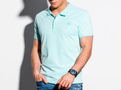 eng pl Mens plain polo shirt S1374 mint 18864 3x