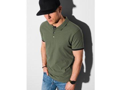 eng pl Mens plain polo shirt S1382 olive 19196 4