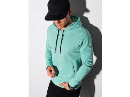 eng pl Mens hooded sweatshirt B1154 turquoise 19278 1