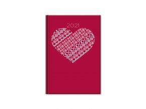 Joso diare Print 2018 Red denny