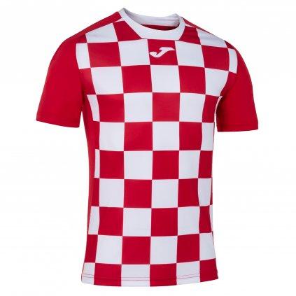 TRIČKO JOMA FLAG II   ČERVENÁ-BÍLÁ   K/R