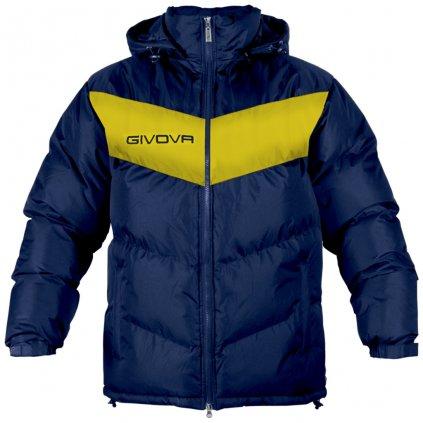 zimní bunda givova podio tmavě modrá-žlutá XS