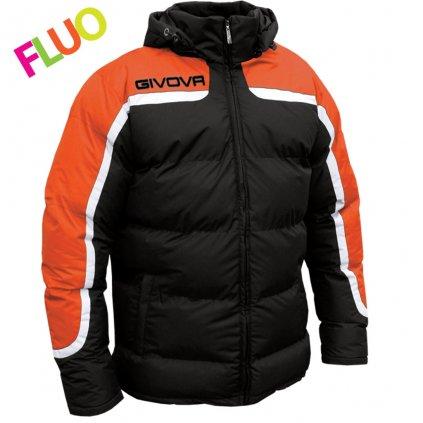 zimní bunda givova antartide černá-oranžová fluo XS