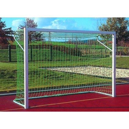 Fotbalová branka Futsal + síťové oblouky, profil hranatý, bez dolního rámu