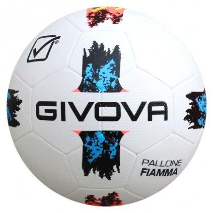 Fotbalový míč Givova PALLONE FIAMMA BÍLÁ-SVĚTLE MODRÁ