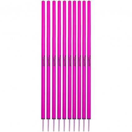 SLALOMOVÉ TYČE CAWILA S HROTY RŮŽOVÉ | SADA 10ks | 160cm