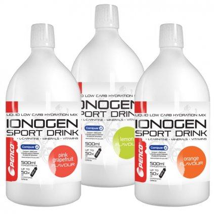 PENCO Iontový nápoj IONOGEN | 500ml | Růžový grep