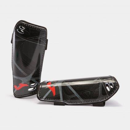 DEFENSE SHIN GUARDS BLACK RED