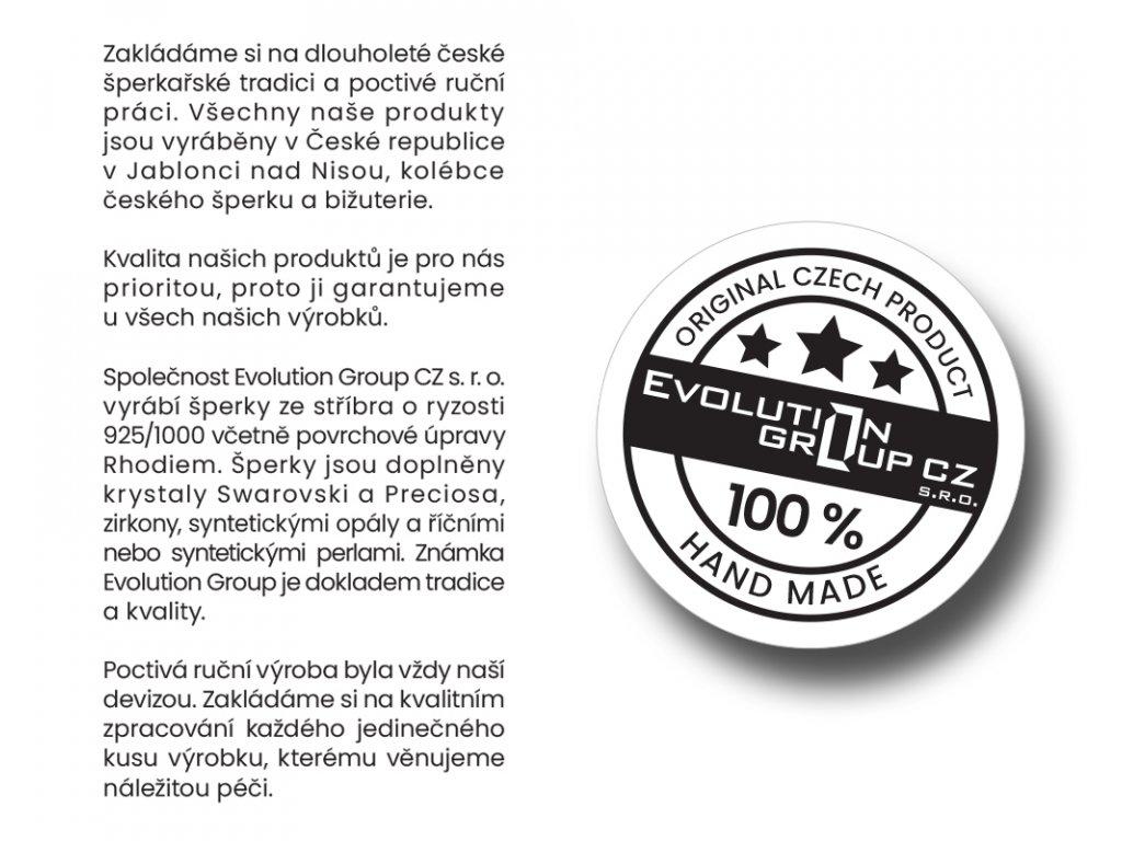 Sada šperků s krystaly Swarovski náušnice a přívěsek bílá kostička 39068.1