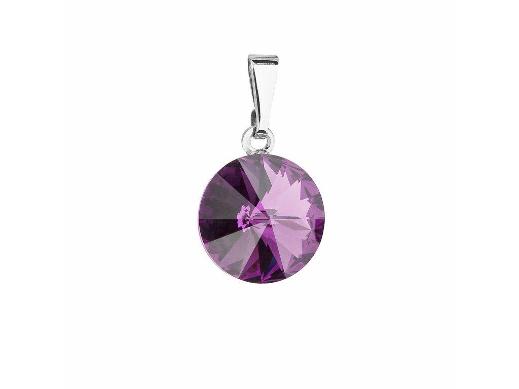 Přívěsek bižuterie se Swarovski krystaly fialový kulatý 54001.3 amethyst