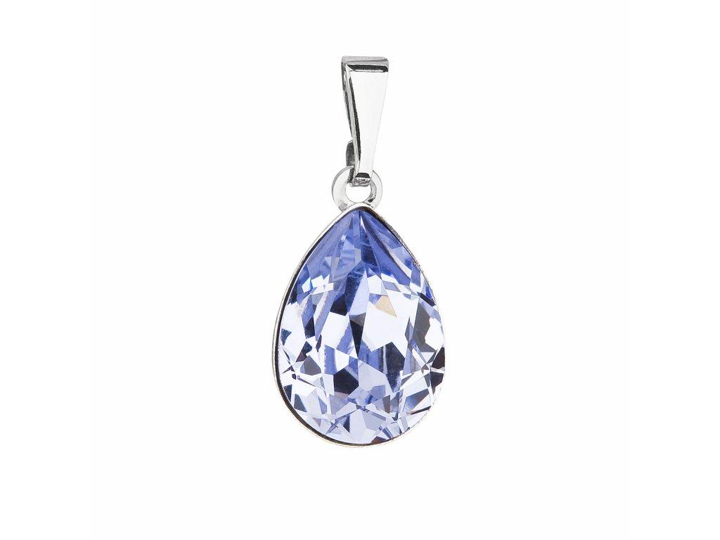 Přívěsek bižuterie se Swarovski krystaly modrá slza 54016.3 lavender