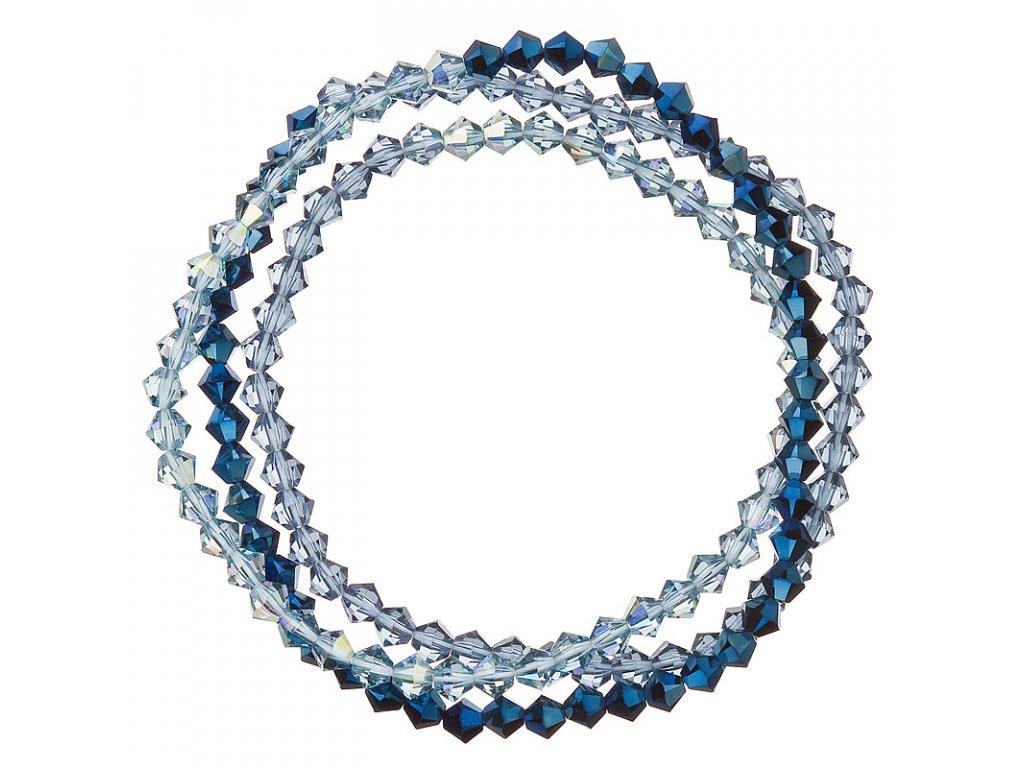 Náramek se Swarovski krystaly modrý 33081.5 metalic denim