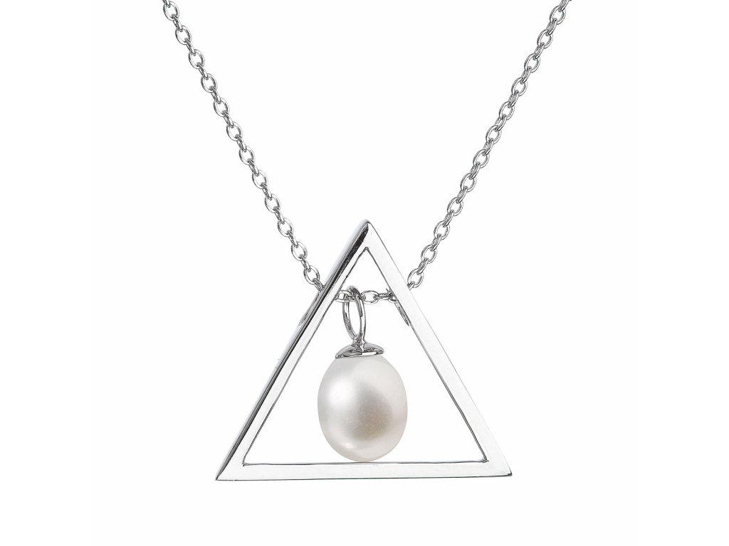 Perlový náhrdelník z pravých říčních perel bílý 22024.1