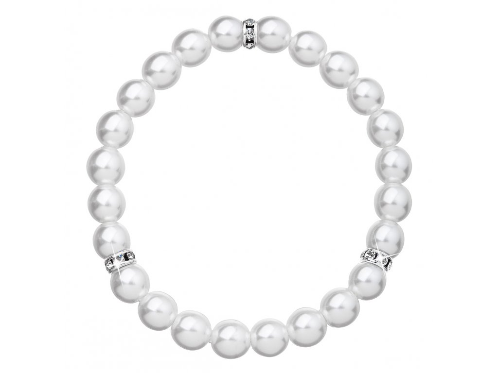 Perlový náramek bílý 33017.1