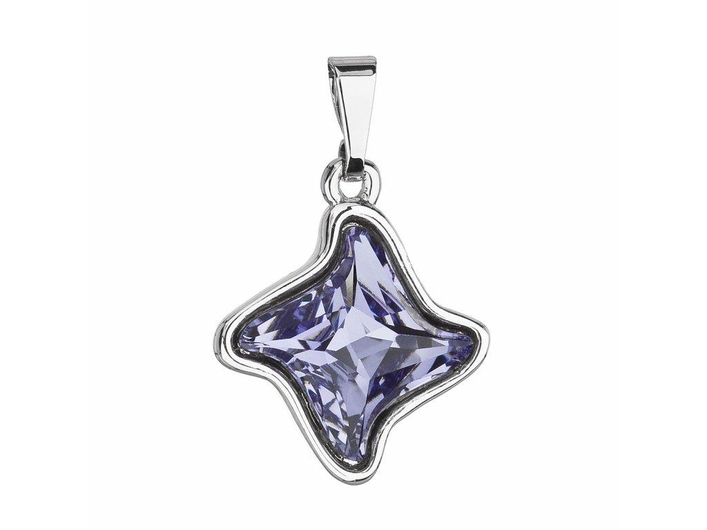 Přívěsek bižuterie se Swarovski krystaly modrá hvězdička 54034.3 tanzanite