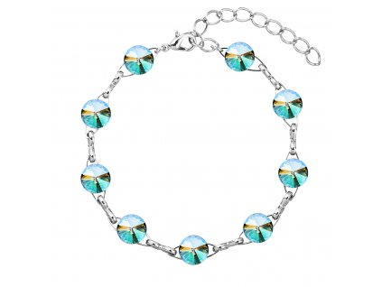 Náramek bižuterie se Swarovski krystaly zelený fialový 53001.5