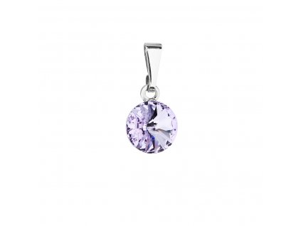 Přívěsek bižuterie se Swarovski krystaly fialový kulatý 54018.3 violet