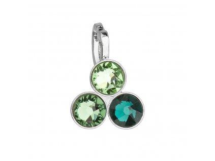 Přívěsek bižuterie se Swarovski krystaly zelený 54030.3