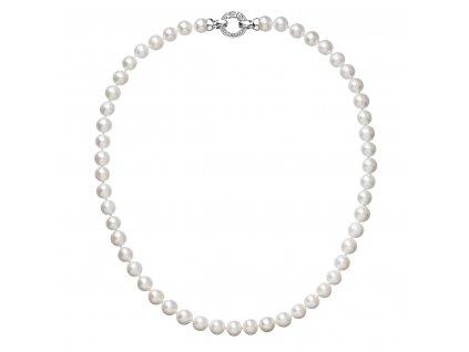 Perlový náhrdelník z pravých říčních perel bílý 22003.1