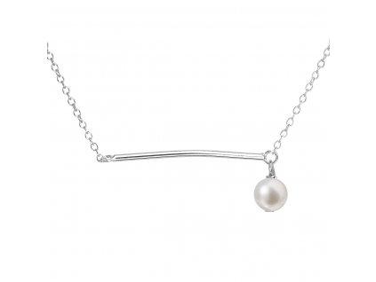 Perlový náhrdelník z pravých říčních perel bílý 22022.1