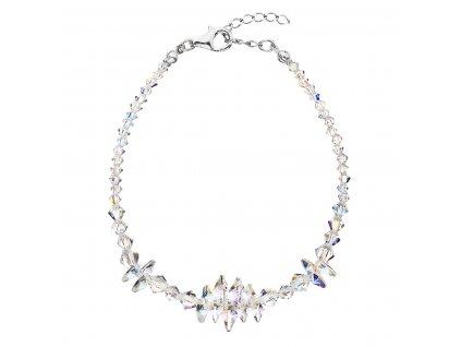 Stříbrný náramek se Swarovski krystaly AB efekt 33107.2