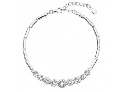 Stříbrný náramek se Swarovski krystaly bílý 33111.1
